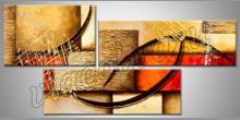 Bumerangy v obraze, ručne maľovaný