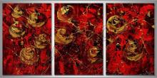 Krvavé pole, ručne maľovaný obraz