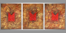 Maľovaný obraz ručne, Červený štítok
