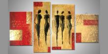 Maľovaný obraz ručne, Päť žien