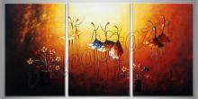 Dievčatá na poli, maľované ručne