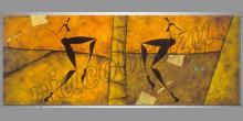 Maľovaný obraz ručne, Tancujúce ženy