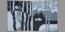 Maľovaný obraz ručne, V bielej krajine