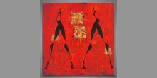 Maľovaný obraz ručne, Žena a muž