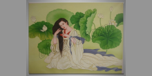 Česajúca sa žena, umelecky obraz