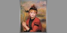 Dievča, umelecky maľovaný obraz