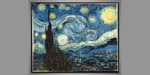Hviezdna noc, Vincent van Gogh, umelecky obraz