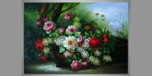 Maľovaný obraz ručne, Čln ruží