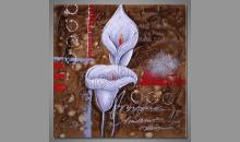 Beautiful flower, obraz ručne maľovaný