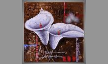 Big flower, obraz je maľovaný ručne