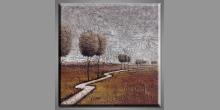Cesta okolo, ručne maľovaný obraz