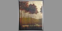 Dlhé smreky, maľovaný obraz ručne