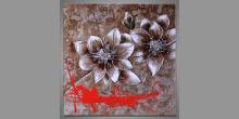 Hnedé kvety, obraz ručne maľovaný