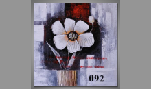 Kvet white, maľovaný obraz ručne