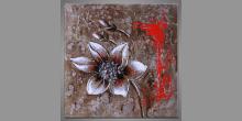 Maľovaný obraz ručne, Smútok kvetu