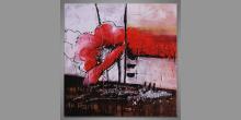 Maľovaný obraz ručne, The red flower