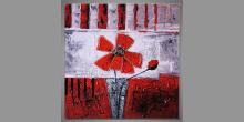 Obraz maľovaný ručne, Kvety vo váze II.