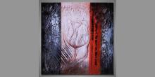 """Obraz Modern Art """"One tulip"""", ručne maľovaný"""