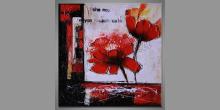 Obraz ručne maľovaný, Silné kvety