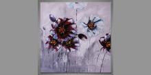 Pestrosť rastlín, maľovaný obraz ručne