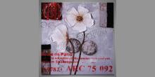 Počúvajúce kvety, obraz  ručne maľovaný