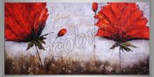 Rodinka kvetu, obraz  je ručne maľovaný