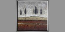 Rovinatá krajina, maľovaný obraz ručne
