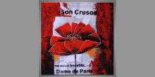 Ručne maľovaný obraz, Červený kvet