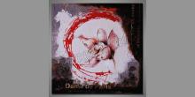 Samotný kvet, obraz  je maľovaný ručne