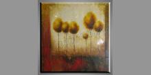 Skupina stromov, obraz  je maľovaný ručne