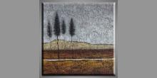 Štyri smreky, maľovaný obraz ručne