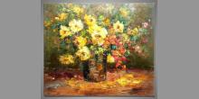 Umelecky maľovaný obraz, Kvety vo váze