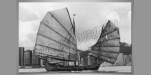 Čínska loď, obraz tlačený