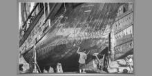 Oprava lode, obraz tlačený