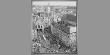 Scenéria mesta, obraz digitálne tlačený