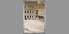 Staroveké divadlo, digitálne tlačený obraz
