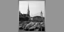 Zürich-Švajčiarsko, digitálne tlačený obraz