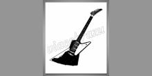 Digitálne tlačený obraz, Gitara