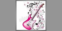 Elektrická gitara, digitálne tlačený obraz