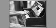 Hra na klavíri, obraz tlačený