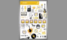 Music application, obraz digitálne tlačený