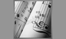Noty na papieri, obraz digitálne tlačený