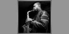 Saxofonista, obraz digitálne tlačený